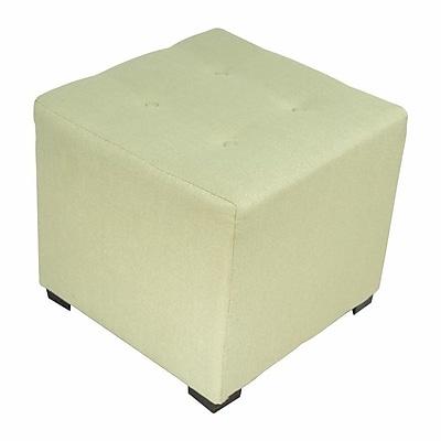 Sole Designs Merton Cube Ottoman; Candice Sea Foam
