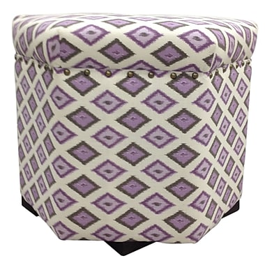 Sole Designs Carnival Ottoman; Purple