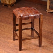 William Sheppee Studio 24'' Bar Stool; Medium Brown