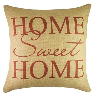 TheWatsonShop Home Sweet Home Burlap Throw Pillow