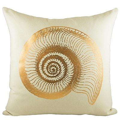 TheWatsonShop Seashell Cotton Throw Pillow