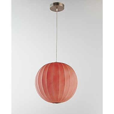 Legion Furniture 1-Light Globe Pendant; Red