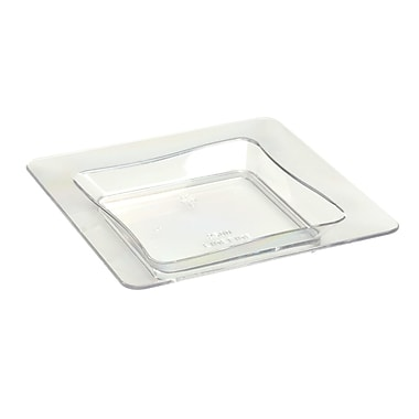 Fineline Settings, Inc Tiny Temptations Square Tray (10 Pack) (Set of 200); Clear
