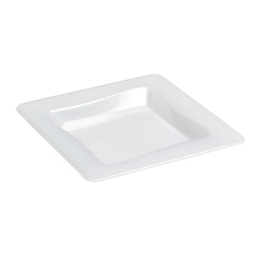 Fineline Settings, Inc Tiny Temptations Square Tray (10 Pack) (Set of 200); White