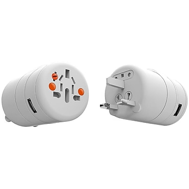 Oneadaptr Twist™ 12W 4Amp World Adapters with 4 USB Outlets