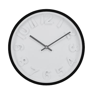 Kiera Grace – Horloge murale Imprint HO85112-3, 11,5 po, noir