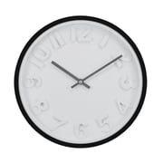 "Kiera Grace HO85112-3 11.5"" Imprint Wall Clock, Black"