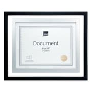 "Kiera Grace PH43163-9 City Document Float Frame, 11"" x 14"", Matted for 8.5"" x 11"", Black with Silver Accent"