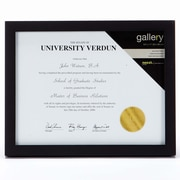 "nexxt Gallery Wood Document Frame, 8.5"" x 11"", Black, 6/Pack (PN01399-7)"