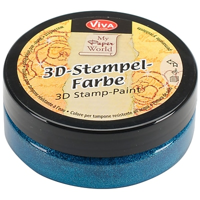 Viva Decor 3D Stamp Paint, Turquoise Metallic
