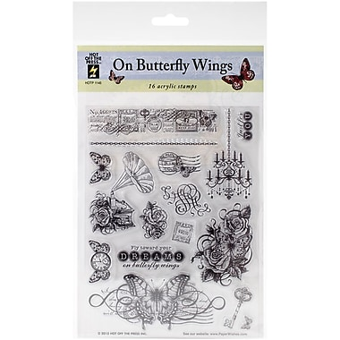 Hot Off The Press Stamps Sheet, On Butterfly Wings