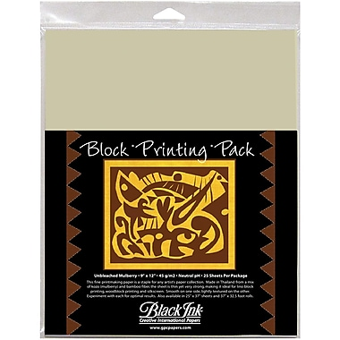 Graphic Products Block Printing Paper 9 x 12 inch, Natural