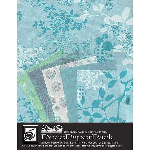 Graphic Products Decorative Paper Pack 11 x 8.5 inch, Chinaberry Aqua (DP-703)