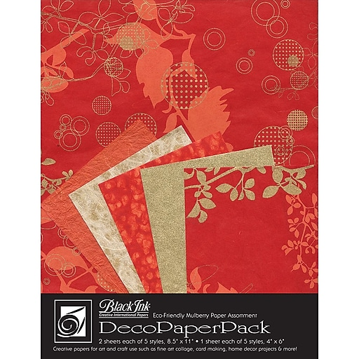 Graphic Products Decorative Paper Pack 11 x 8.5 inch, Chinaberry Red (DP-704)