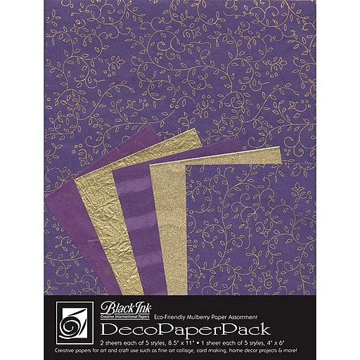Graphic Products Decorative Paper Pack 11 x 8.5 inch, Napa Purple (DP-708)