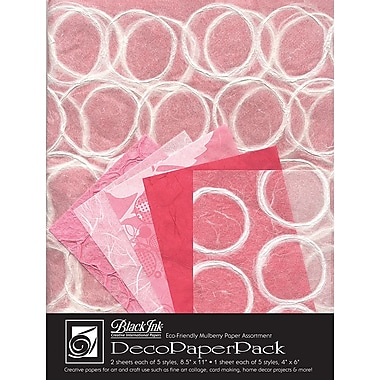Graphic Products Decorative Paper Pack 11 x 8.5 inch, Tickled Pink