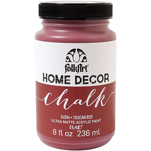 FolkArt Home Decor Chalk Paint, Tuscan Red