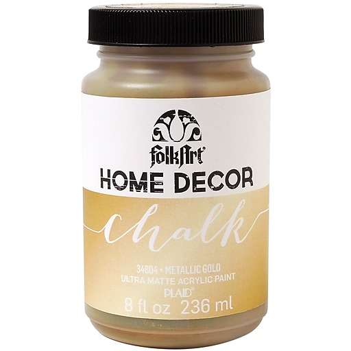 FolkArt Home Decor Chalk Paint Gold 8 Oz.