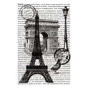 Artemio Cling Stamps, Paris with Text in Background