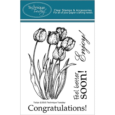 Technique Tuesday Clear Stamps, Tulips