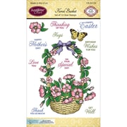 Justrite Papercraft Clear Stamp Set, Floral Basket
