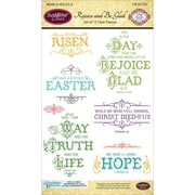 Justrite Papercraft Clear Stamp Set, Rejoice And Be Glad