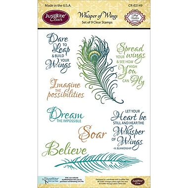 Justrite Papercraft Clear Stamp Set, Whisper Of Wings