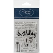 Technique Tuesday Clear Stamps, Say It Birthday
