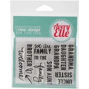 Avery Elle Clear Stamp Set, Simply Said