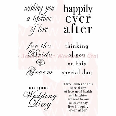 Woodware Craft Collection Clear Magic Singles Clear Stamps, Wedding Words