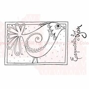 Woodware Craft Collection Clear Stamps Sheet, Doodle Bird