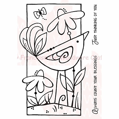 Woodware Craft Collection Stamps, Daisy Bird