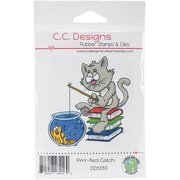 Doodle Dragon Cling Stamp 3 x 3 inch, Fect Catch