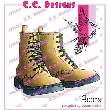 DoveArt Studio Boots Rubber Stamp