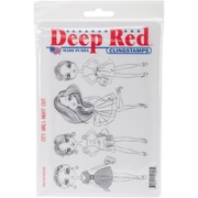 Deep Red Stamps Cling Stamp