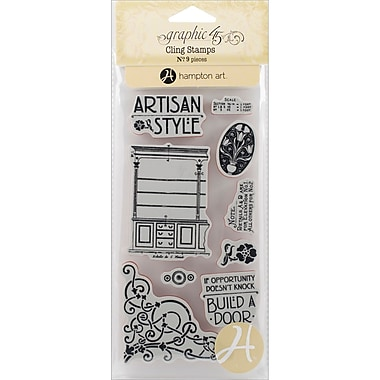 Hampton Art Artisan Style Cling Stamps, Stamp # 1