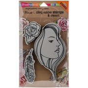 Stampendous Cling Stamp Set, The Look