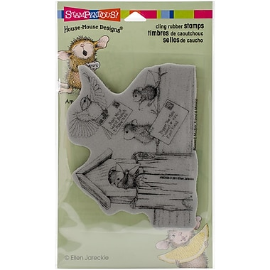 Stampendous House Mouse Cling Rubber Stamp Sheet