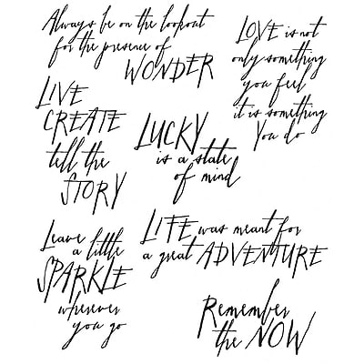 Stampers Anonymous Tim Holtz Cling Rubber Stamp Set, Handwritten Thoughts