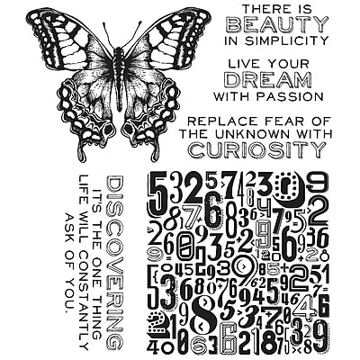 Stampers Anonymous Tim Holtz Cling Rubber Stamp Set, Perspective