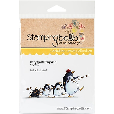 Stamping Bella Cling Rubber Stamps, Christmas Penguins