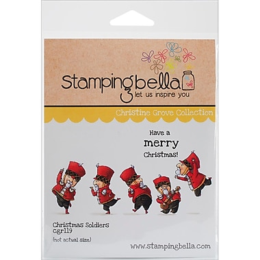 Stamping Bella Cling Rubber Stamps, Christmas Soldiers