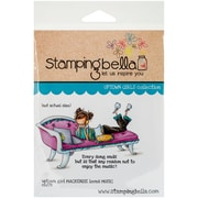 Stamping Bella Cling Rubber Stamps, Uptown Girl Mackenzie Loves Music
