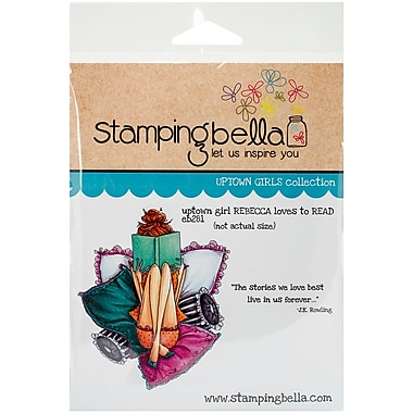 Stamping Bella Cling Rubber Stamps, Uptown Girl Rebecca Loves To Read
