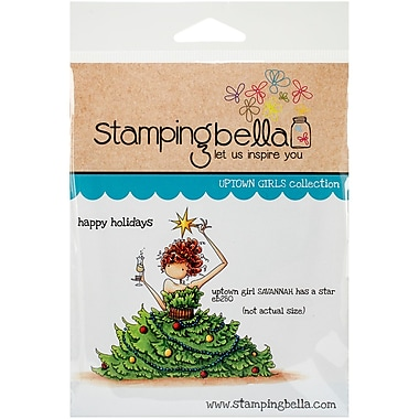 Stamping Bella Cling Rubber Stamps, Uptown Girl Savannah Has A Star