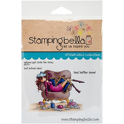 Stamping Bella Cling Rubber Stamps, Uptown Girl Sophia Is A Sicky