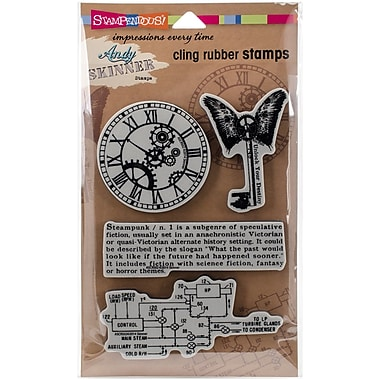 Stampendous As Cling Rubber Stamp Set, Steampunk
