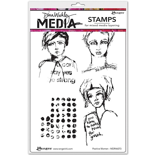 Dina Wakley Dina Wakley Media Cling Stamps, Positive Women