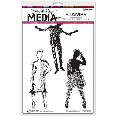 Dina Wakley Dina Wakley Media Cling Stamps, Silhouetted Women