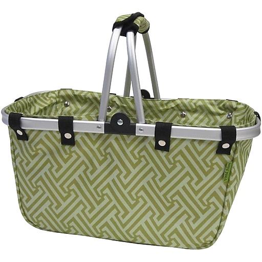 JanetBasket Interlock Collapsible Basket Green